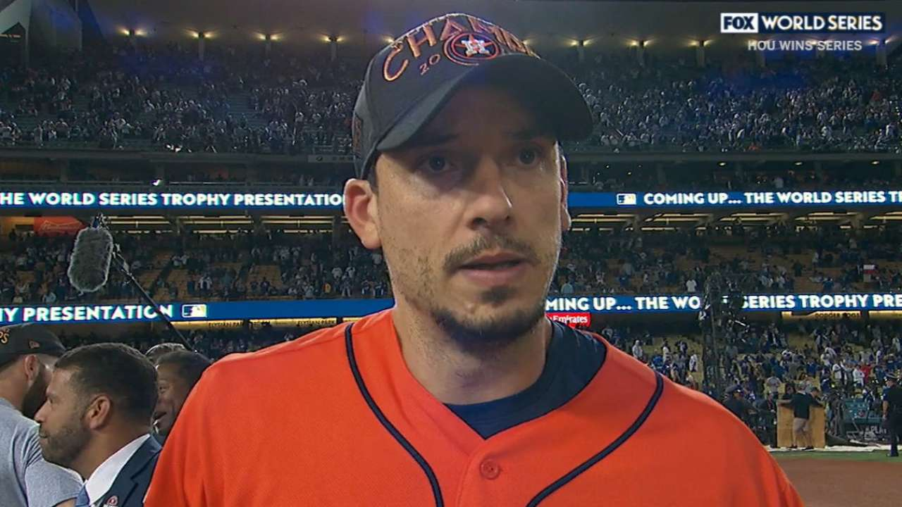 Charlie morton an unlikely world series hero houston astros morton on game 7 win fandeluxe Images