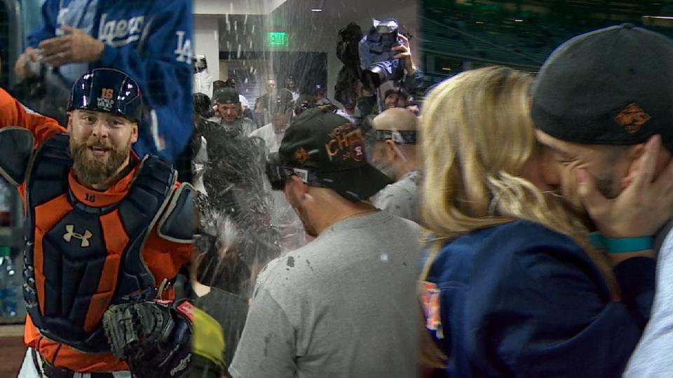 Astros react to clinching WS