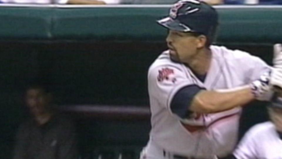 Roberts' first big league hit