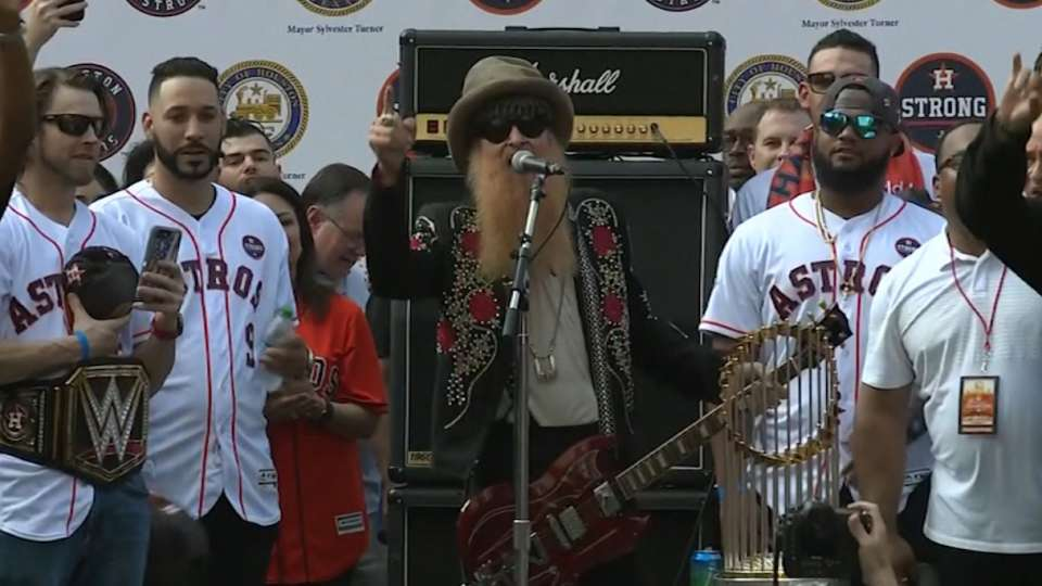ZZ Top's Gibbons performs anthem