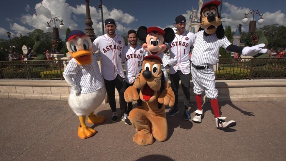 Astros visit Walt Disney World