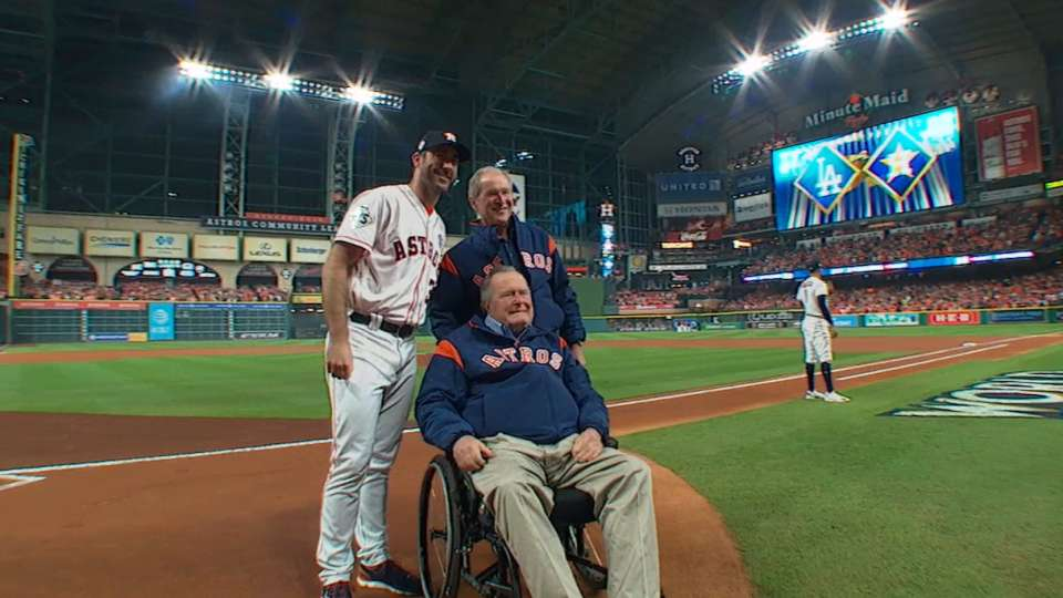 Bush family's first pitch