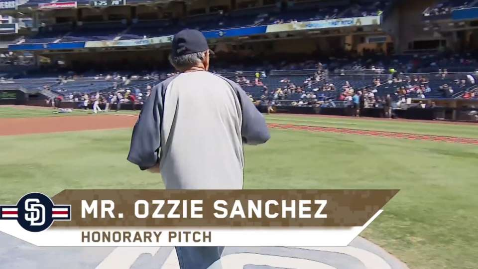 Honorary pitch: Ozzie Sanchez