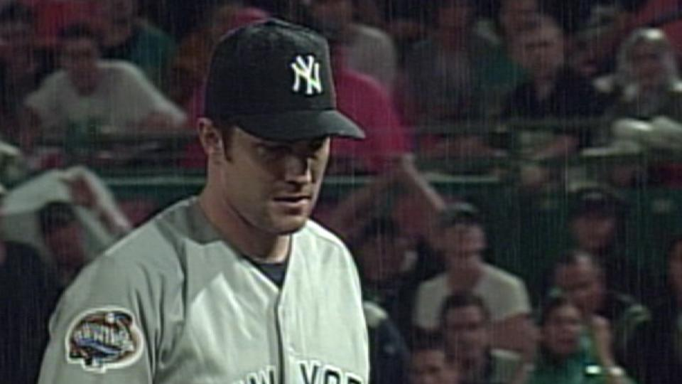 Mussina's ninth K of the game