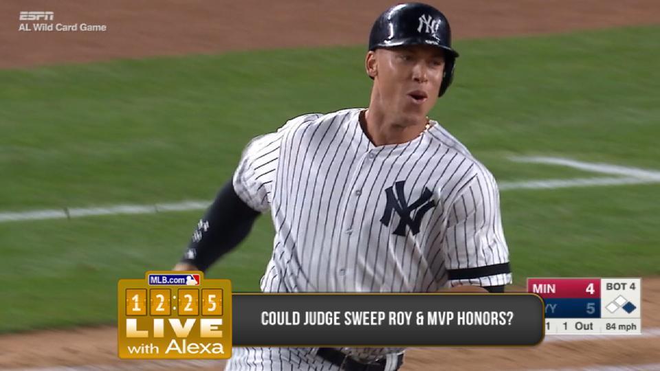 Judge's chances of winning MVP