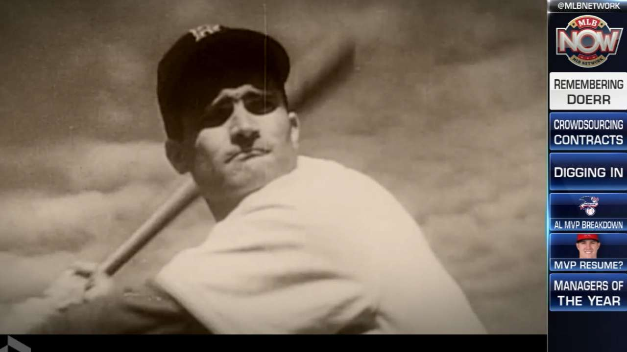 Design x banner makanan - Mlb Now Remembers Bobby Doerr