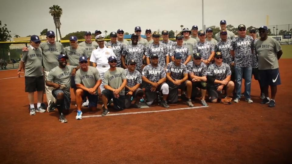 Padres Alumni vs. Navy softball