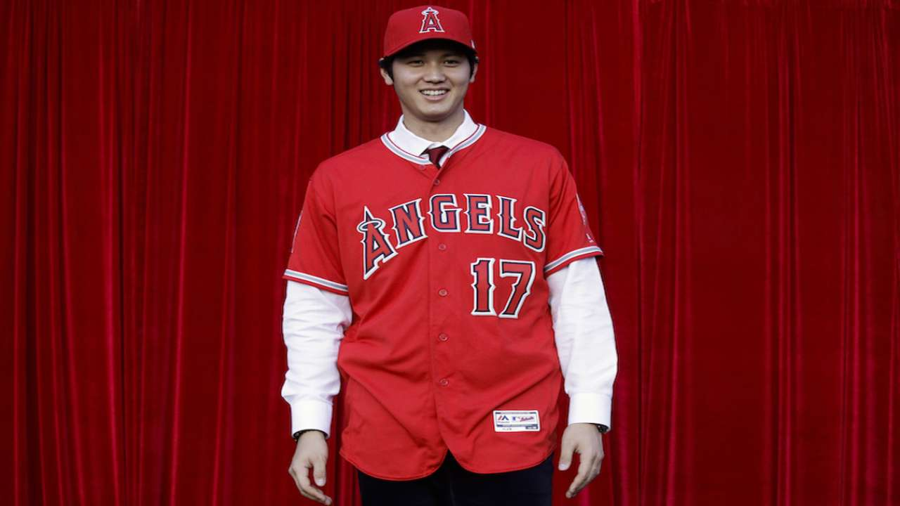 meet 5d556 4b04b Ohtani wanted to wear Trout's number | MLB.com