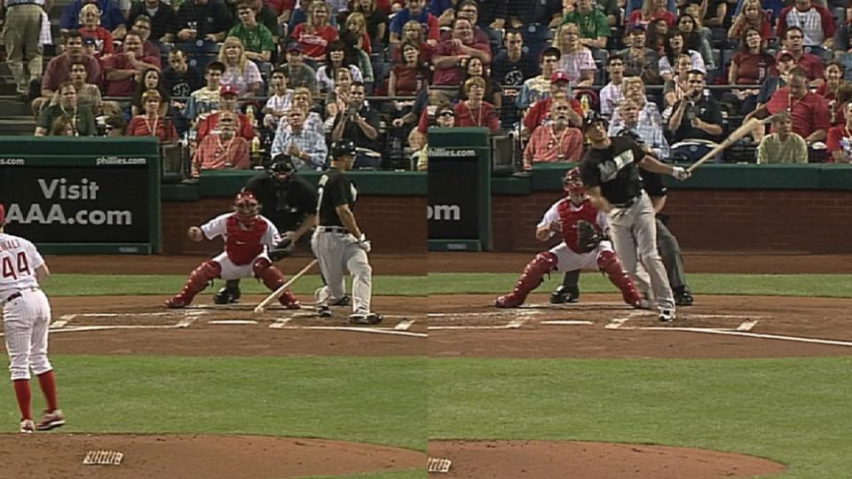 Stanton homers after confusion
