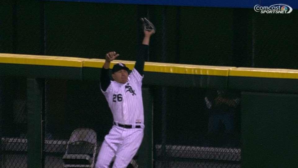 Garcia's leaping grab
