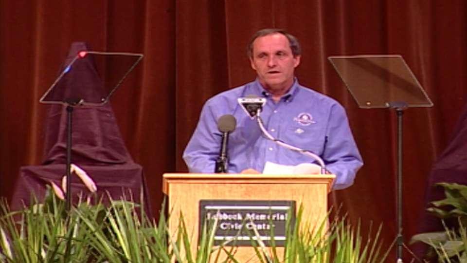 Floyd Bannister induction speech