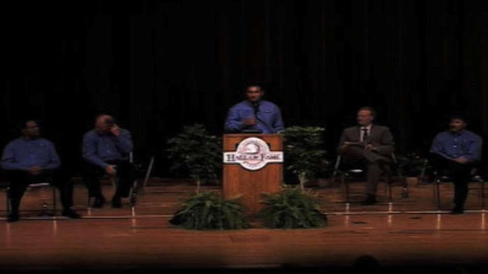 Dressendorfer gives his speech