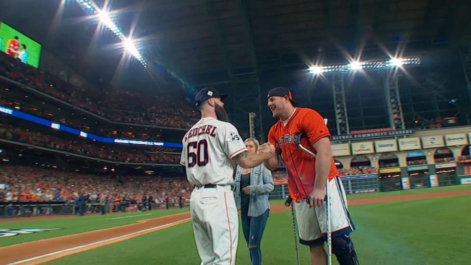 Watt throws out first pitch