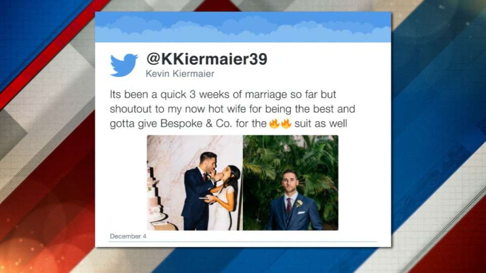 Kiermaier on his wedding