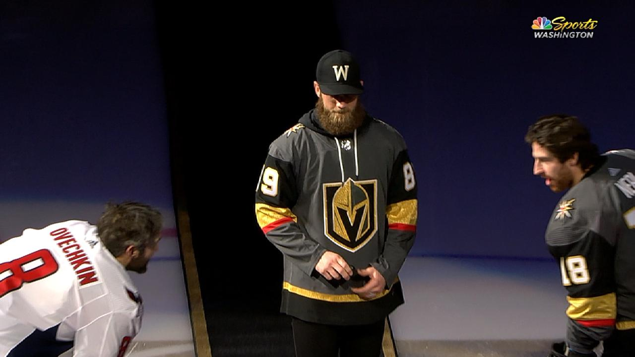 100% authentic 72a6a 021c9 Bryce Harper dropped the ceremonial first puck at the ...