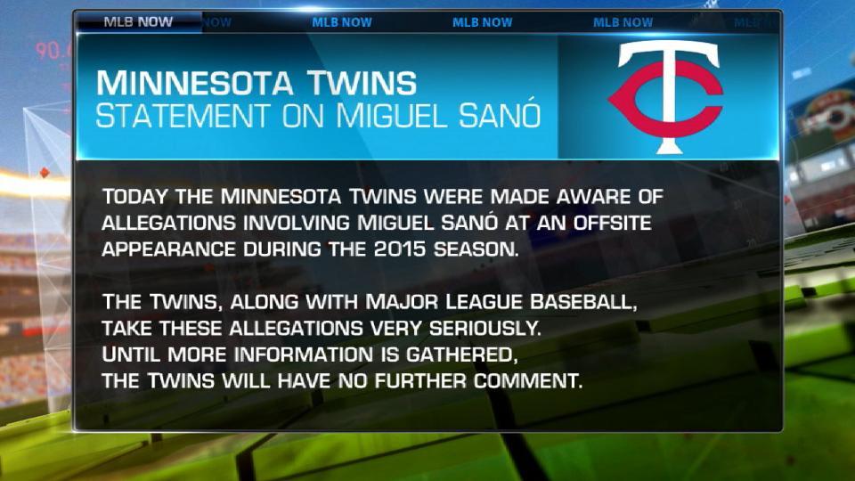 Twins statement on Sano