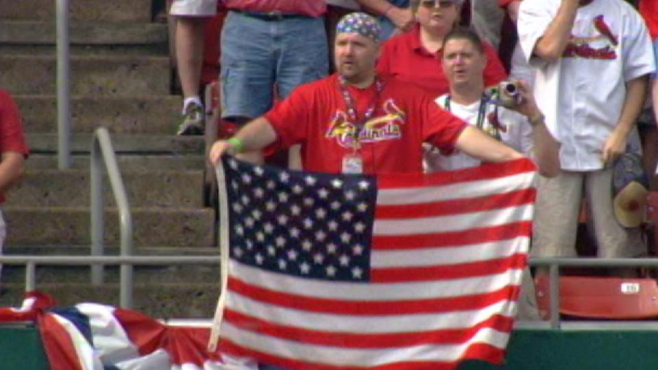 National anthem at Busch finale