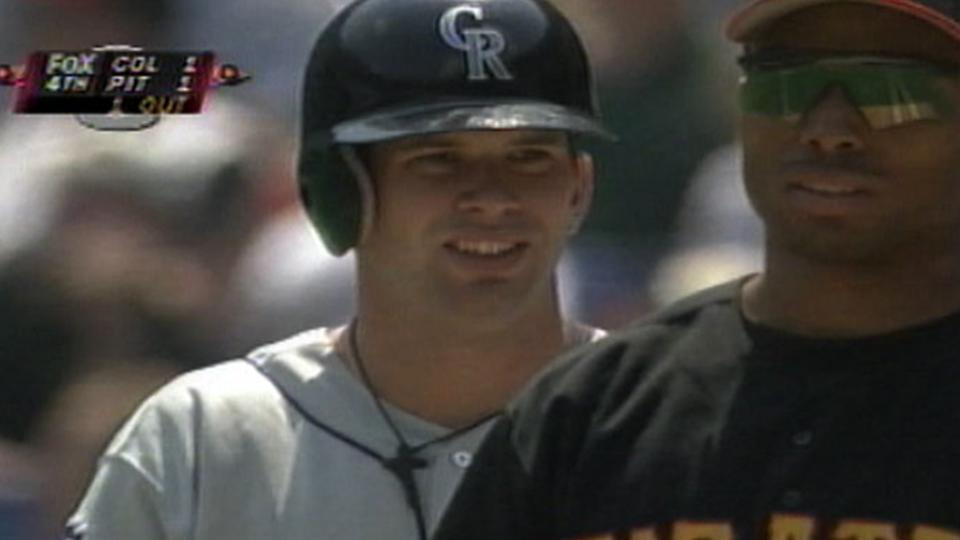 Helton's first hit in Majors