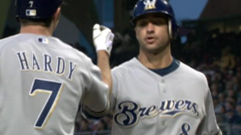 Braun's first career home run