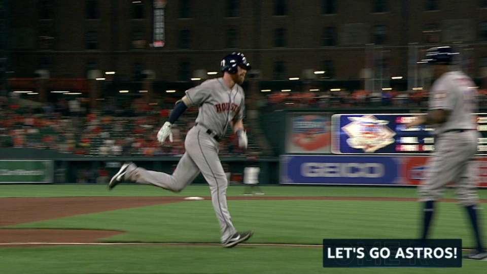 Moran's first career home run