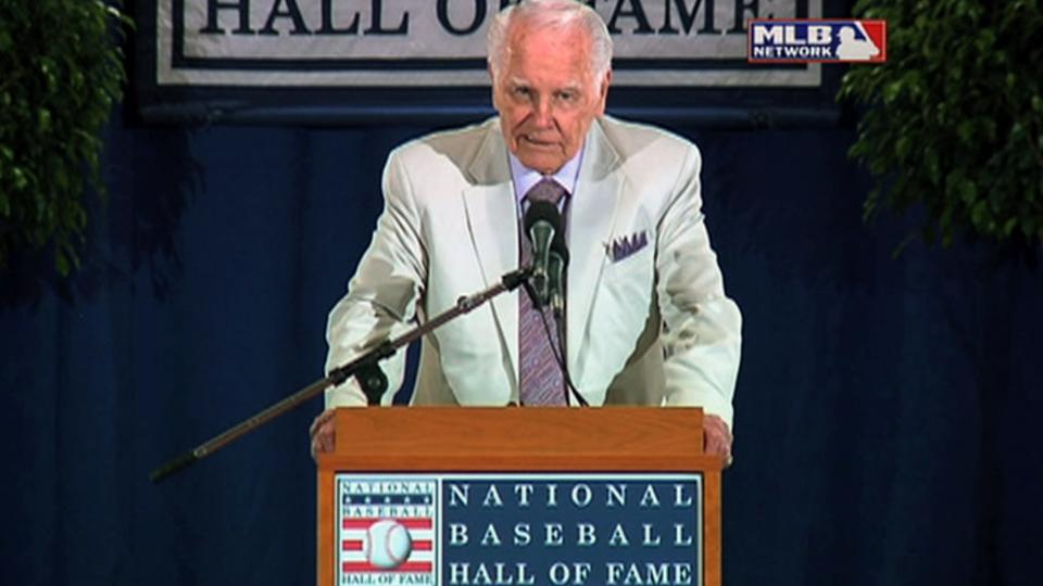 Harvey is inducted into the Hall