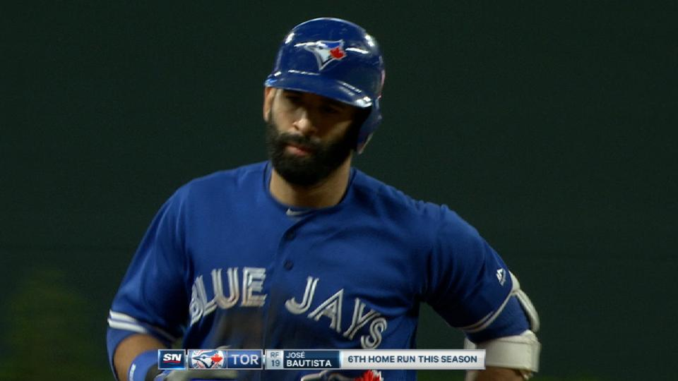 Bautista's solo homer in the 8th