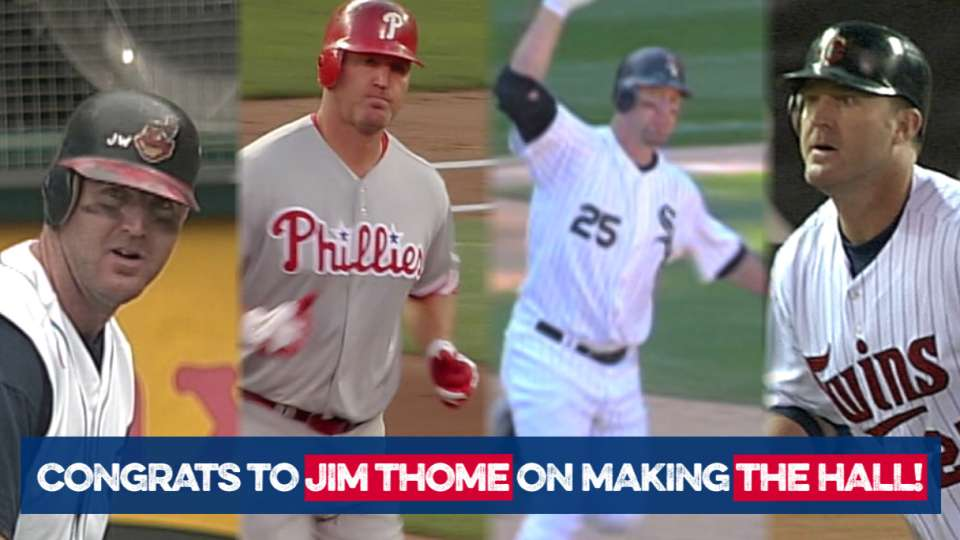 Thome elected to the HOF