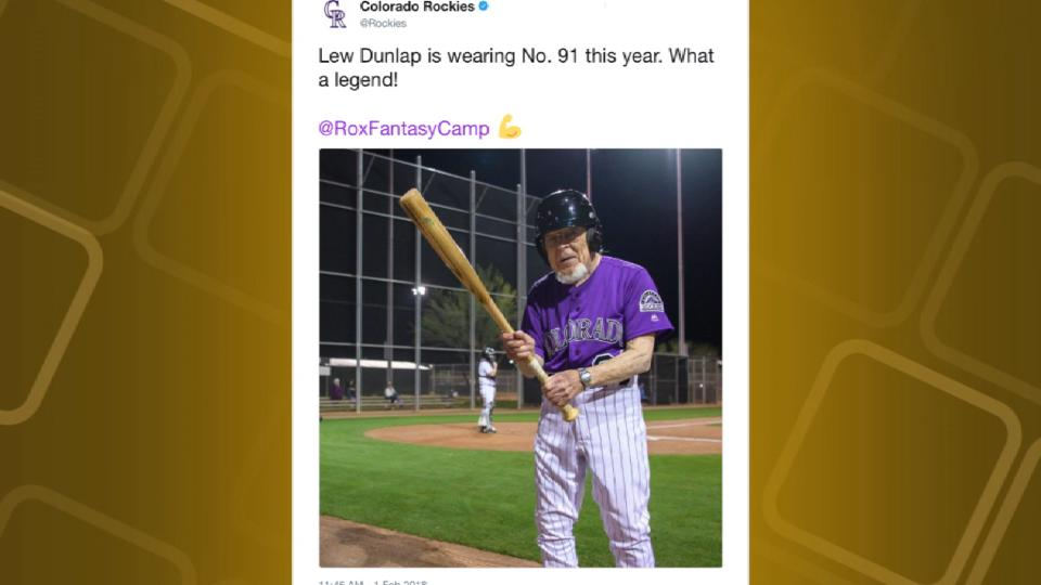 91-year-old fantasy camp player