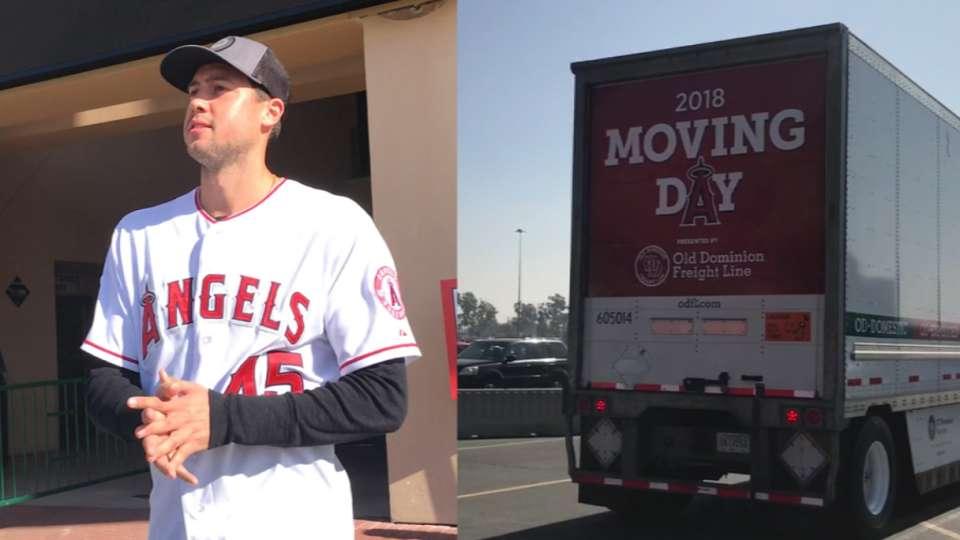 Angels' truck leaves for Arizona