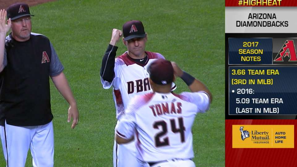 Hazen on D-backs keeping pace