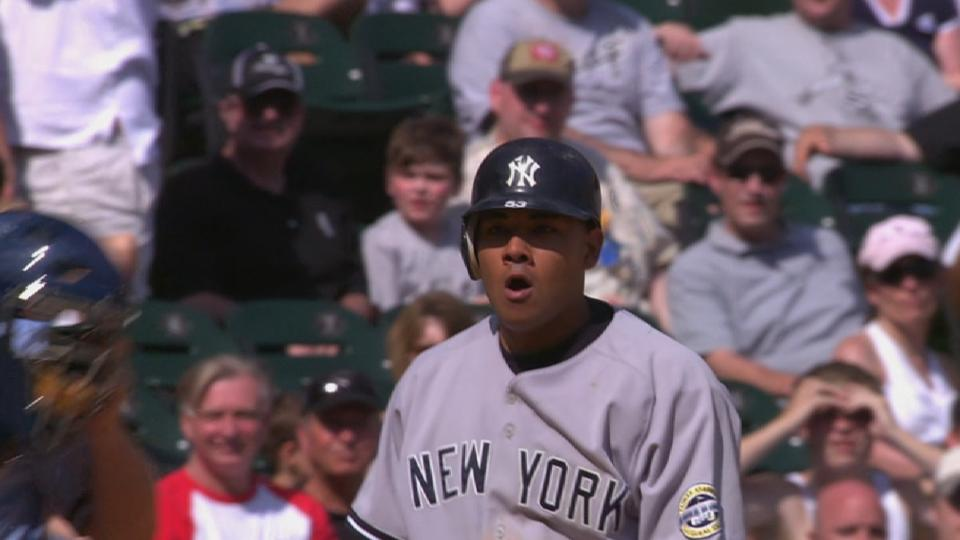 Melky hits for the cycle in 2009