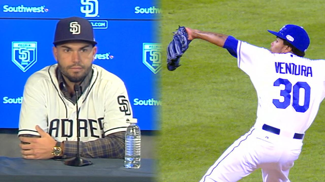 Hosmer joins Padres wears number of late teammate Ventura