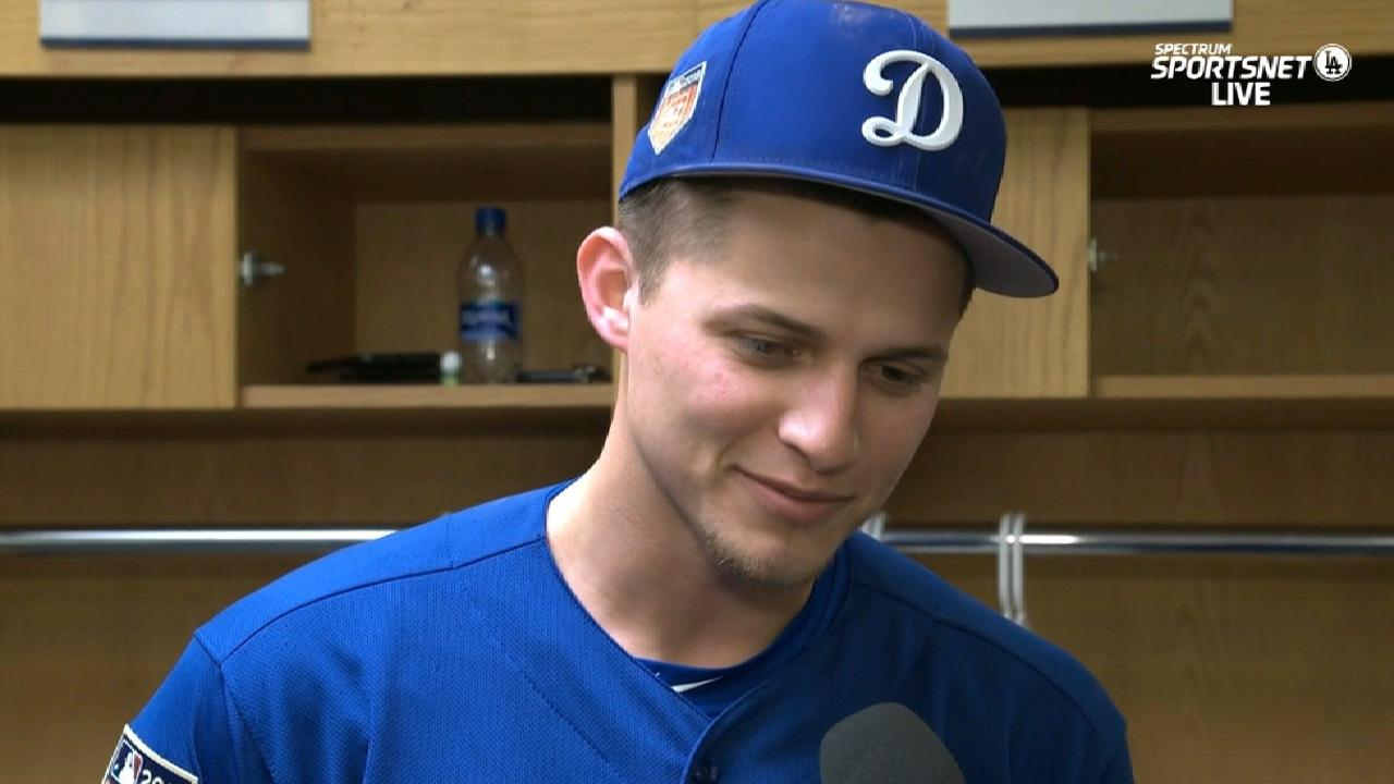 ffa19dae406e Kyle, Corey Seager share field in spring game   MLB.com
