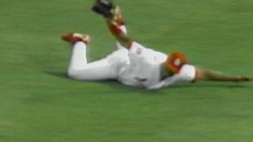 Lankford's diving double play