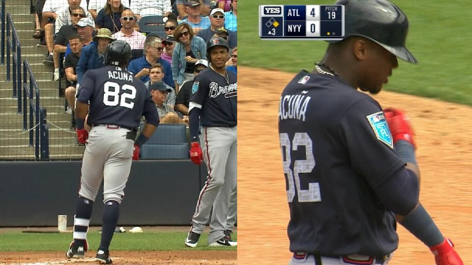 Acuna Jr.'s big day at the dish
