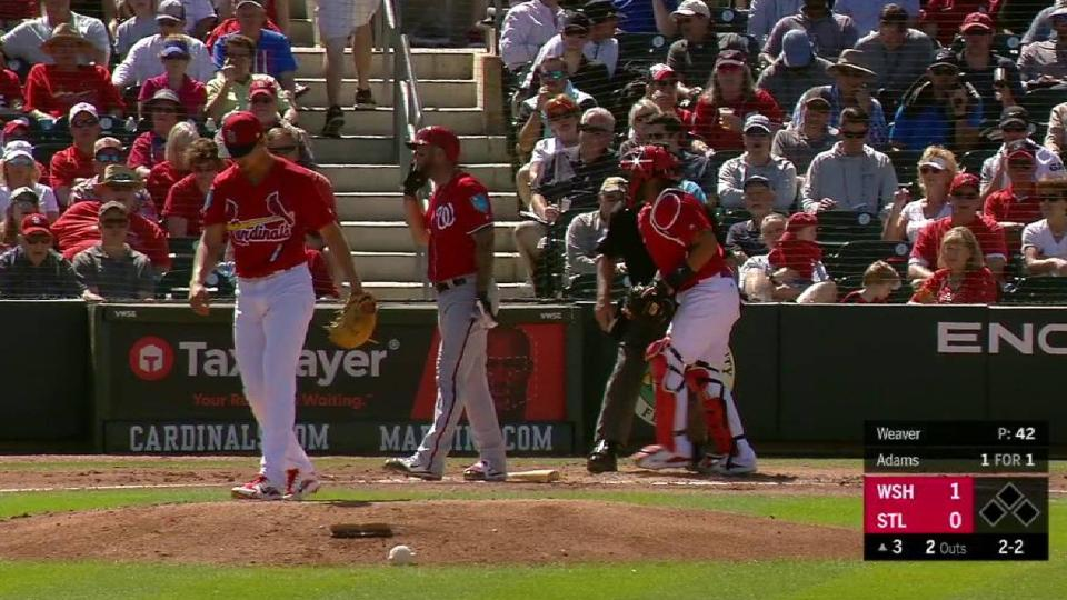 Weaver strikes out the side
