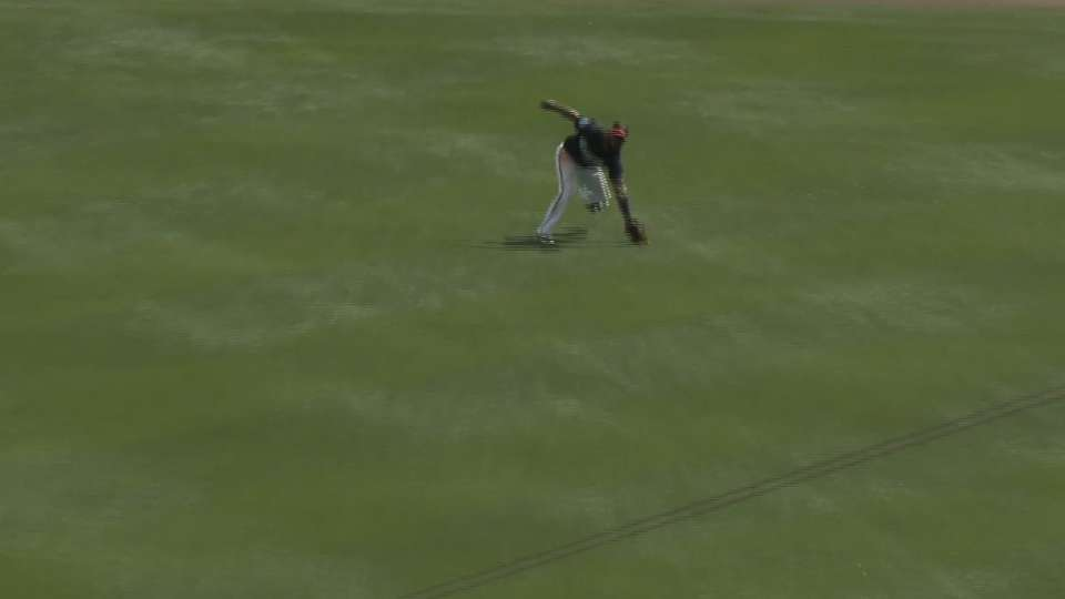 Santana's running catch