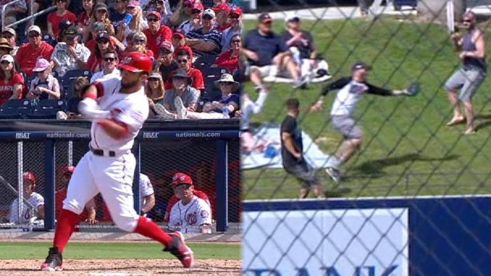 Fan catches Marmolejos' homer