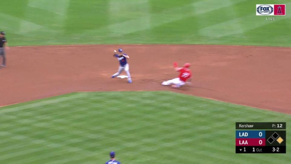 Kershaw induces a double play