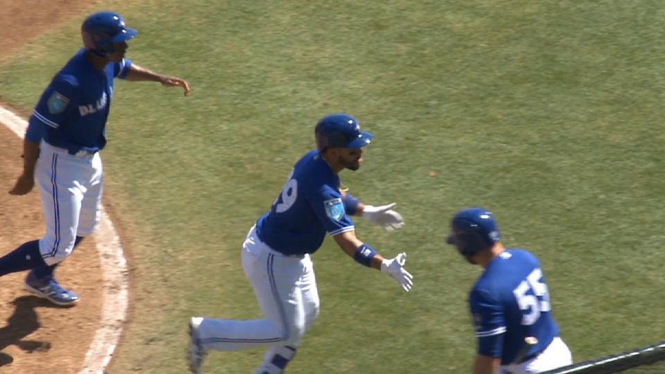 Travis' two-run homer