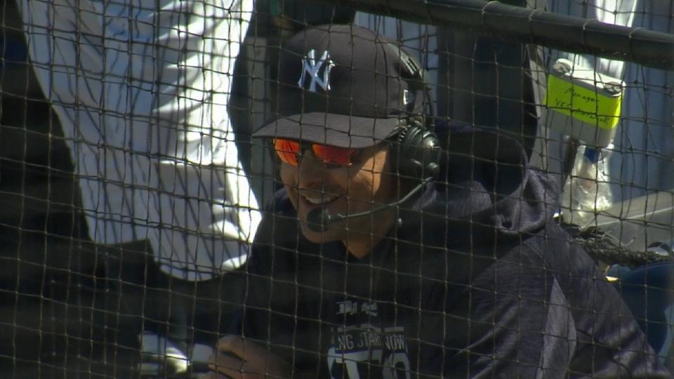 Boone on Stanton in left field