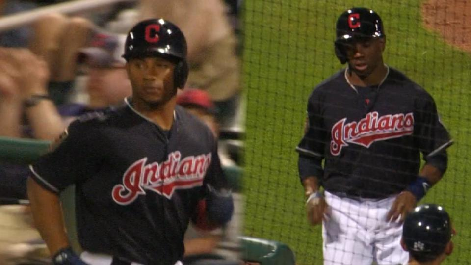 Mejia gives the Indians the lead