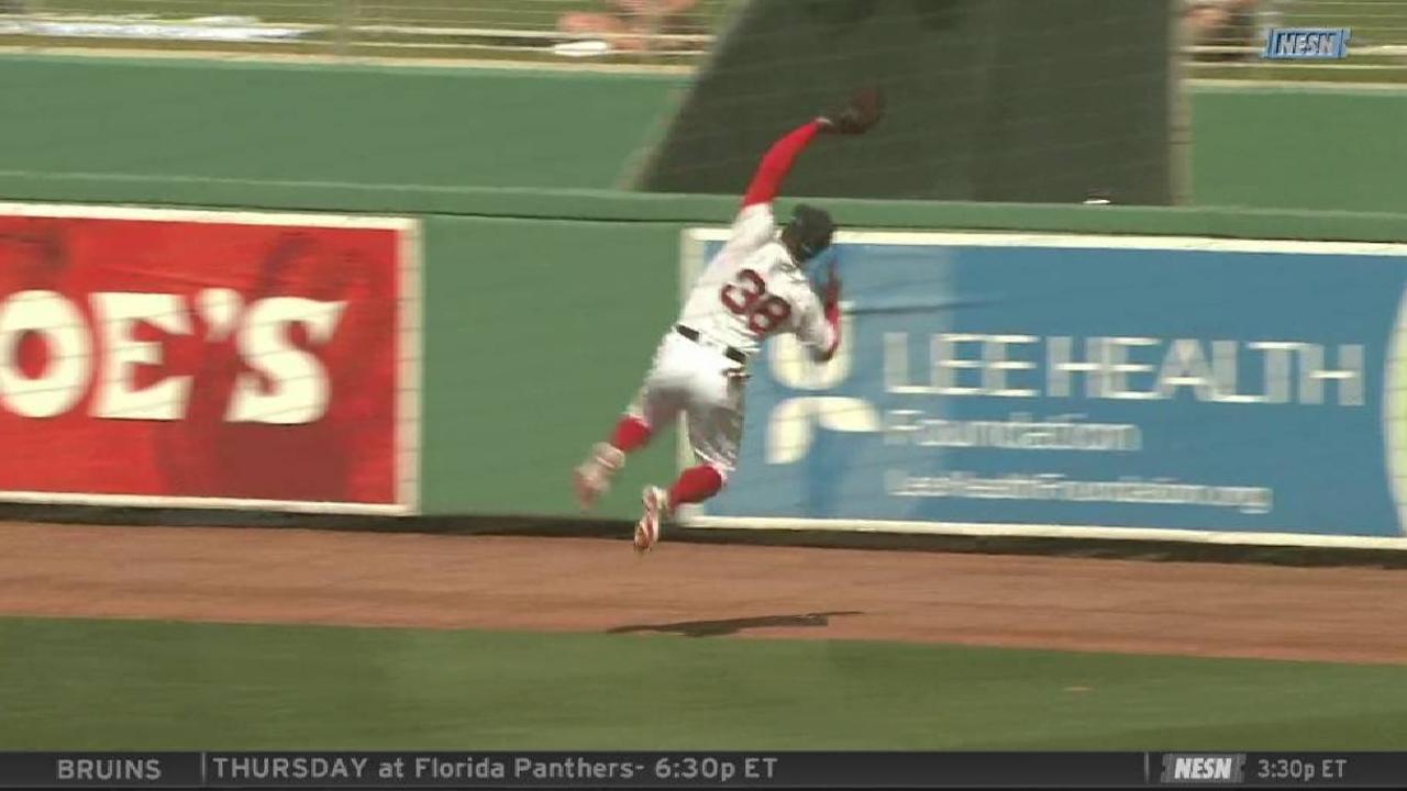 Castillo's leaping grab