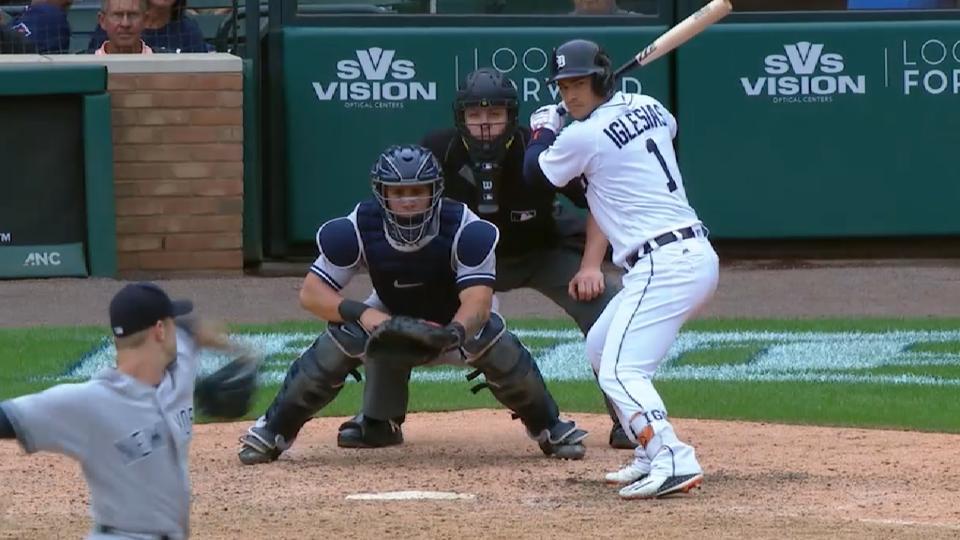 Iglesias on hitting, defense