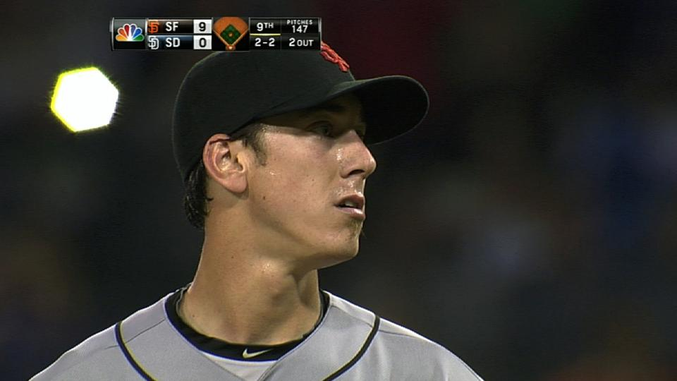 Lincecum fans 13 in no-hitter