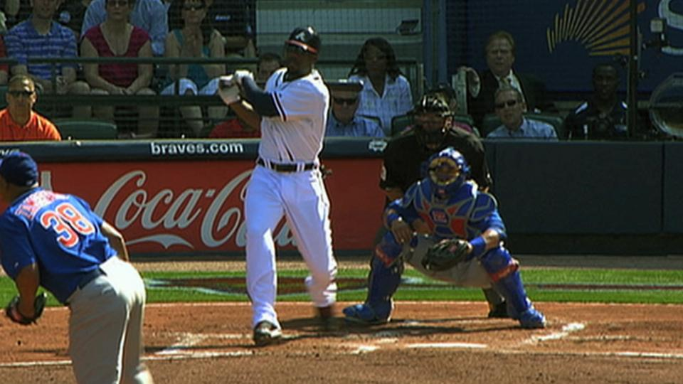 Heyward goes yard in first AB
