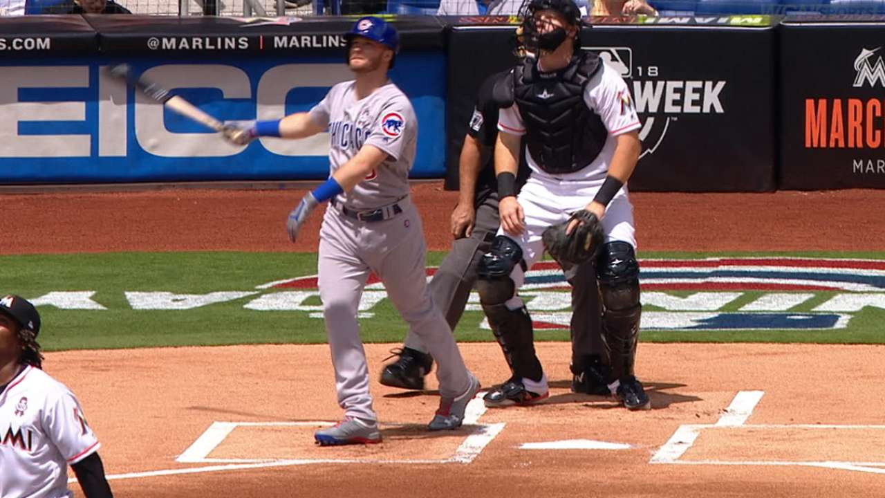 Ian Happ leads off 2018 with a homer in Miami   MLB.com