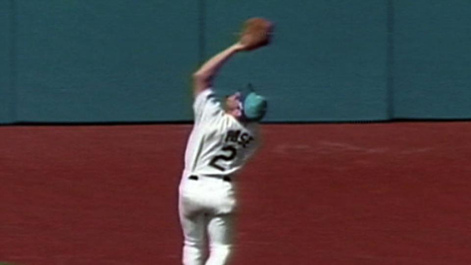 Pose makes great catch in center