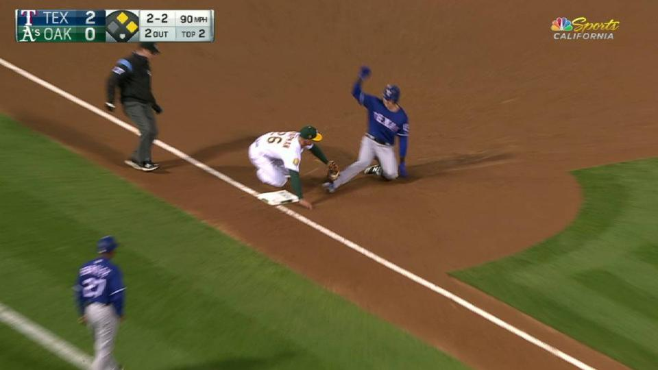 Lucroy cuts down second of frame