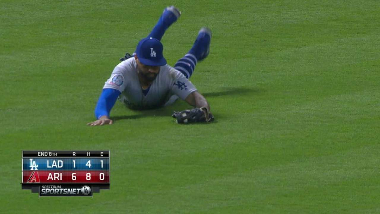 Kemp's diving grab